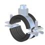 INOX Universal-Rohrschelle mit Schallschutz und Schnellverschluss